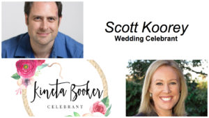 Celebrants Scott Koorey and Kineta Booker